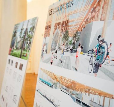 Projects of the finalists competing to develop a concept and master plan for the eco-district in Kazan now exhibited in BFFT.space